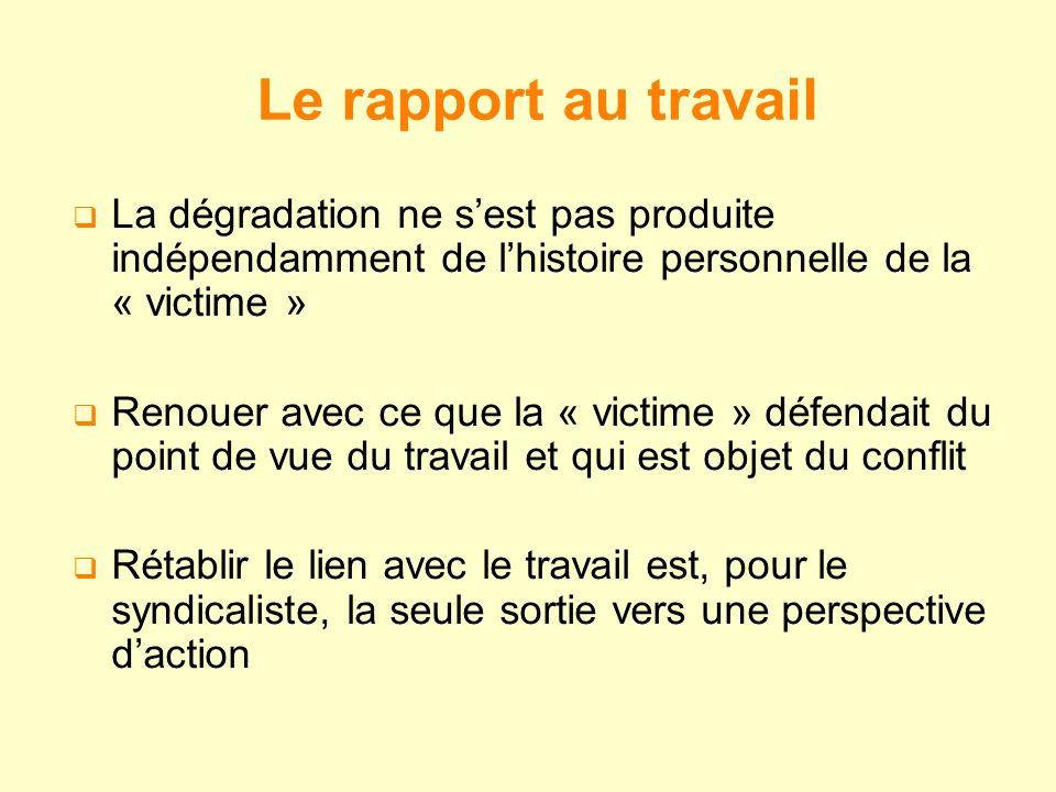 La dégradation ne sest pas produite indépendamment de lhistoire personnelle de la « victime » Renouer avec ce que la « victime » défendait du point de