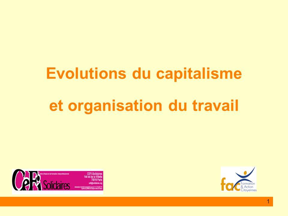 1 Evolutions du capitalisme et organisation du travail