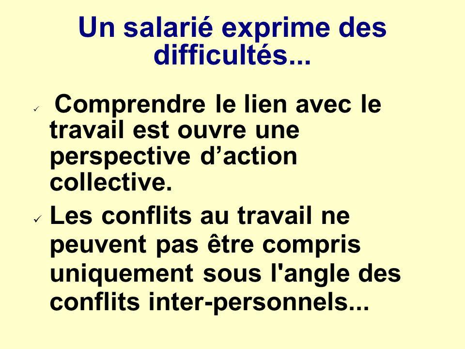 Un salarié exprime des difficultés...