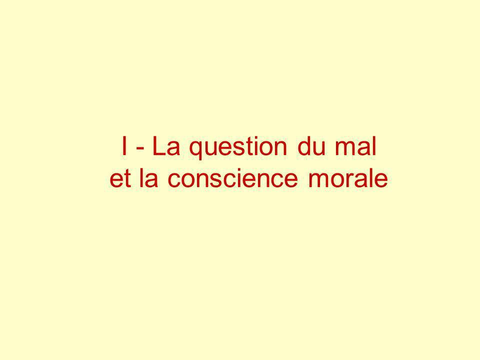 I - La question du mal et la conscience morale