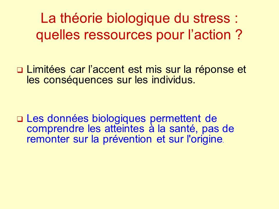La théorie biologique du stress : quelles ressources pour laction .