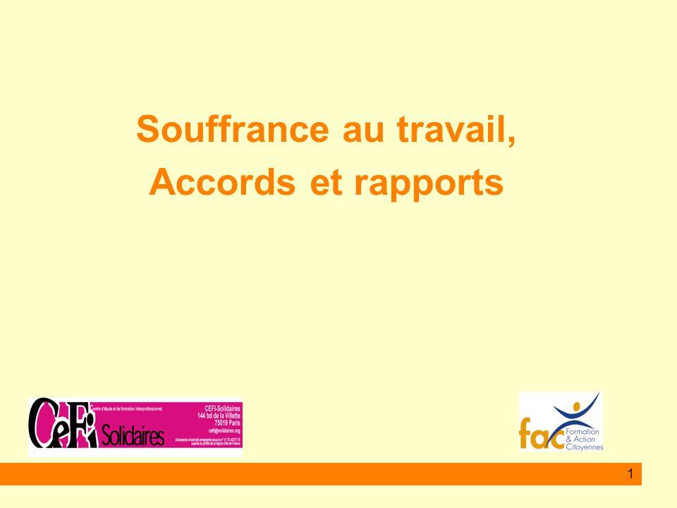 2 Le rapport Nasse Légeron mars 2008 Suite à une demande du Ministre du Travail Il vise à traiter les effets et non les causes .