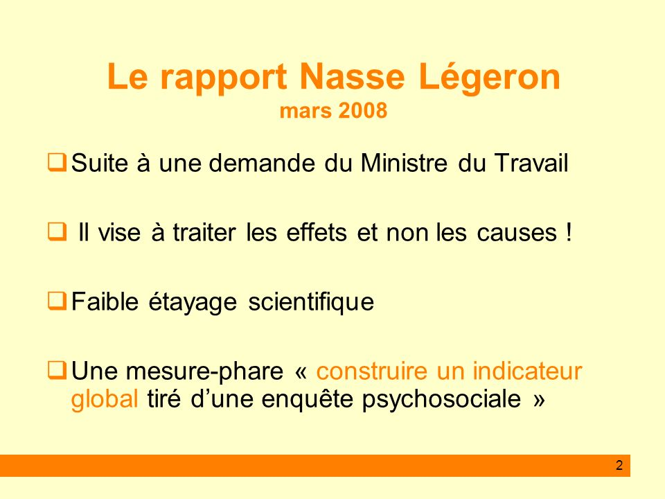 13 Une analyse des causes souvent pertinente...