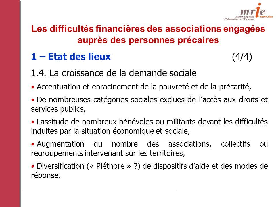 1 – Etat des lieux (4/4) 1.4.
