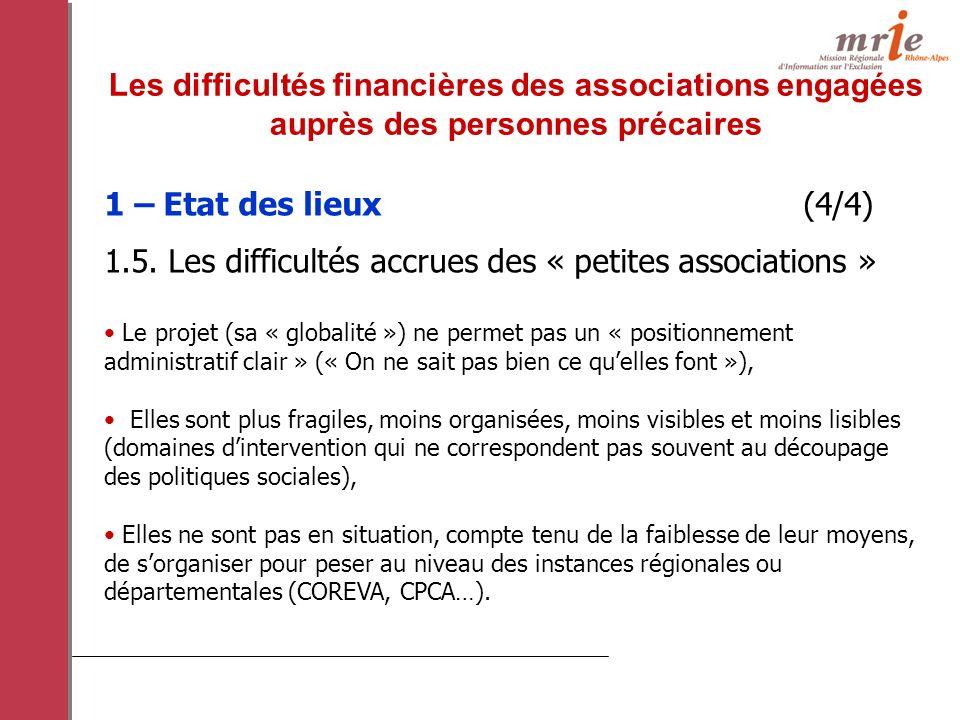 1 – Etat des lieux (4/4) 1.5.