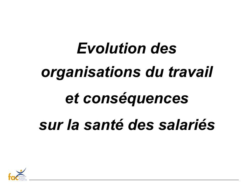 Les transformations de lorganisation du travail Taylorisme : une activité prévisible administrée par en haut.