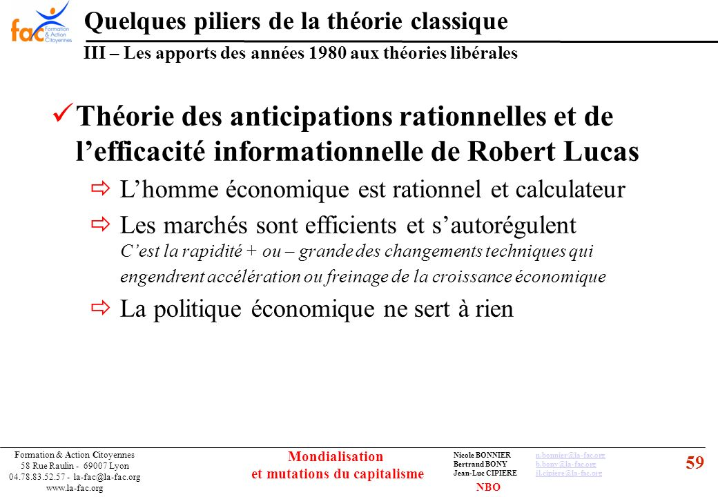 59 Formation & Action Citoyennes 58 Rue Raulin - 69007 Lyon 04.78.83.52.57 - la-fac@la-fac.org www.la-fac.org Nicole BONNIERn.bonnier@la-fac.orgn.bonn