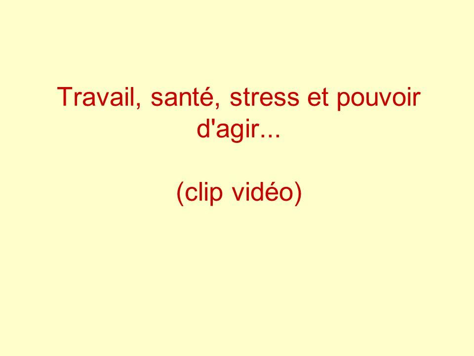 Travail, santé, stress et pouvoir d'agir... (clip vidéo)