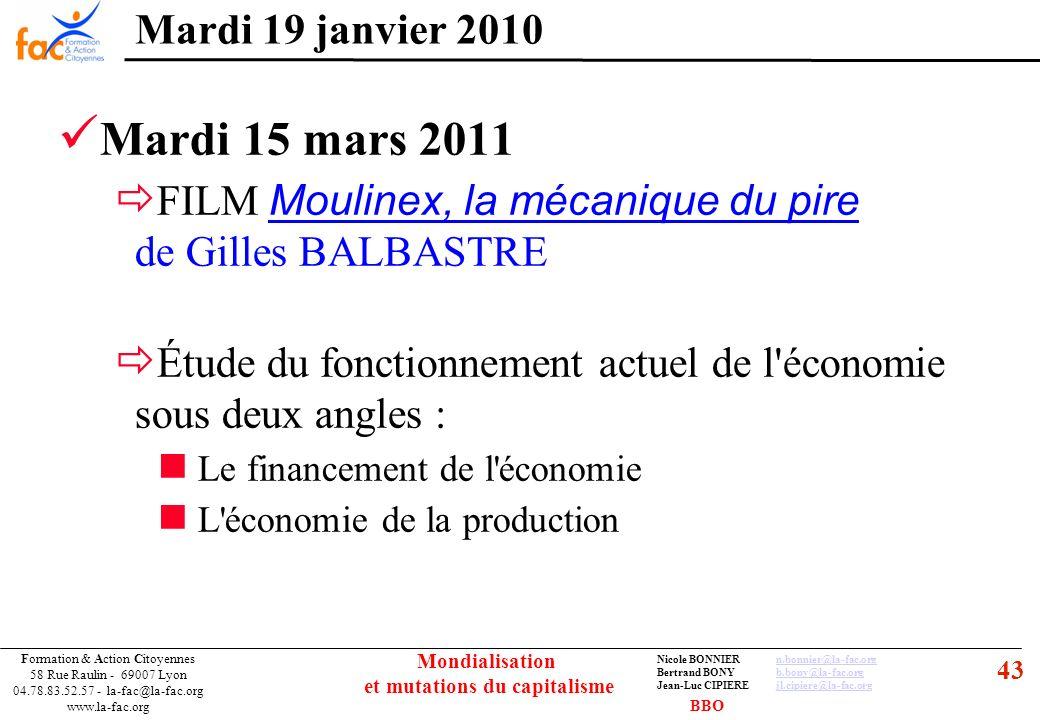 43 Formation & Action Citoyennes 58 Rue Raulin - 69007 Lyon 04.78.83.52.57 - la-fac@la-fac.org www.la-fac.org Nicole BONNIERn.bonnier@la-fac.orgn.bonn
