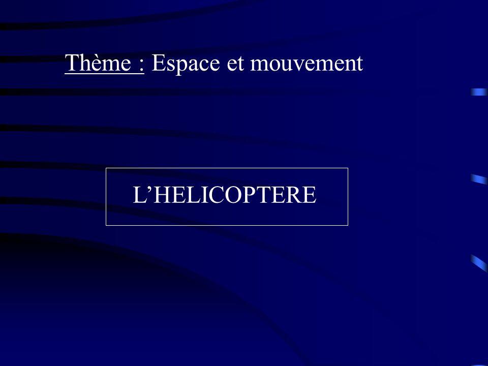 Thème : Espace et mouvement LHELICOPTERE