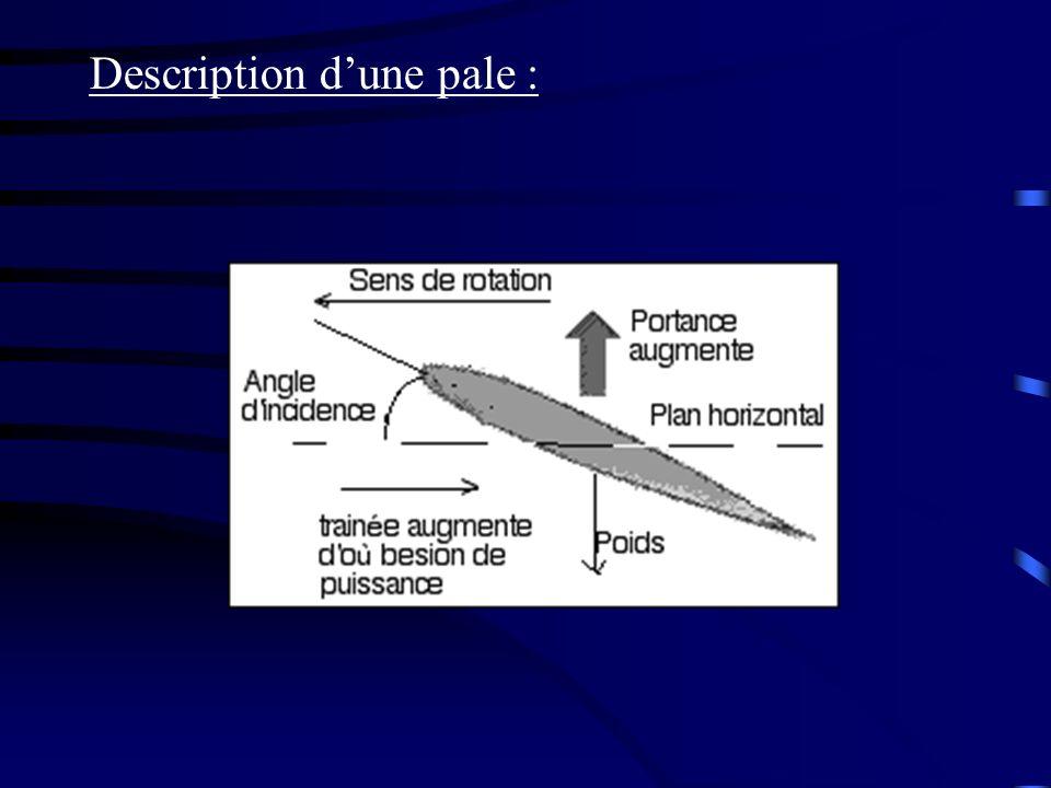 Description dune pale :