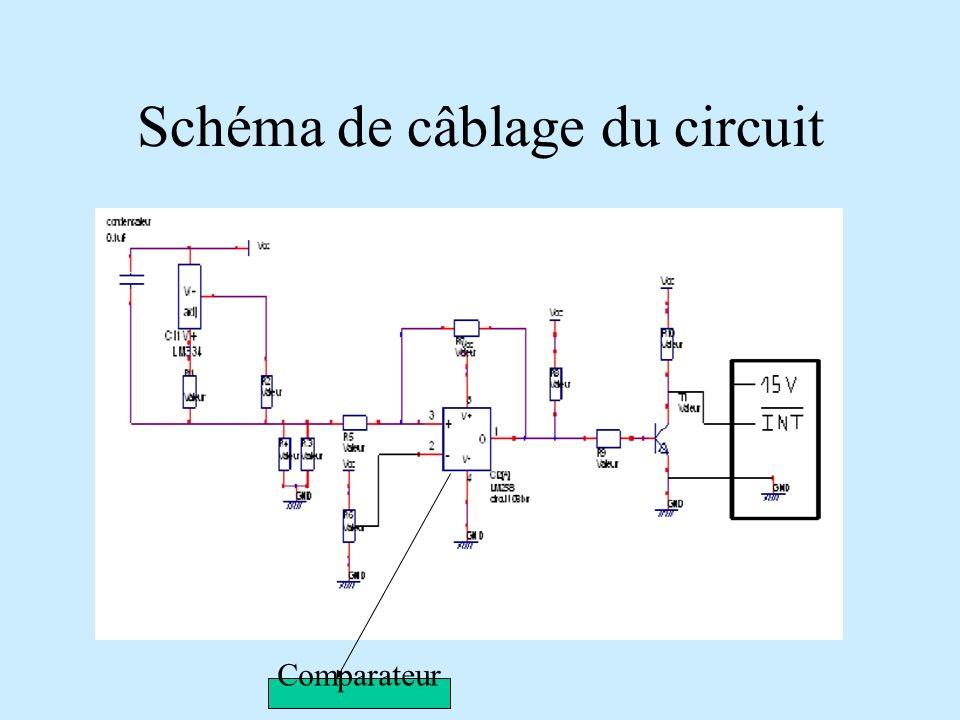 Schéma de câblage du circuit Comparateur