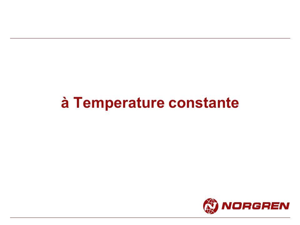 On appelle cette transformation une ISOTHERME (iso = même, therme = température) Cette transformation dans être suffisamment lente pour que la chaleur puisse sévacuer.