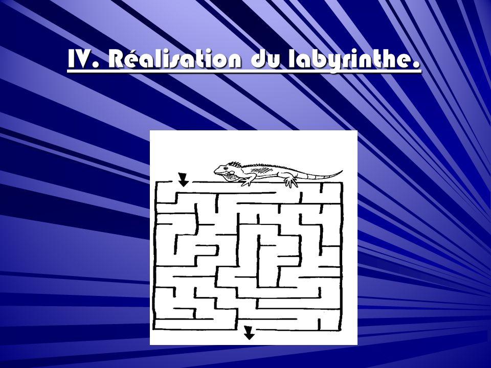 IV. Réalisation du labyrinthe.