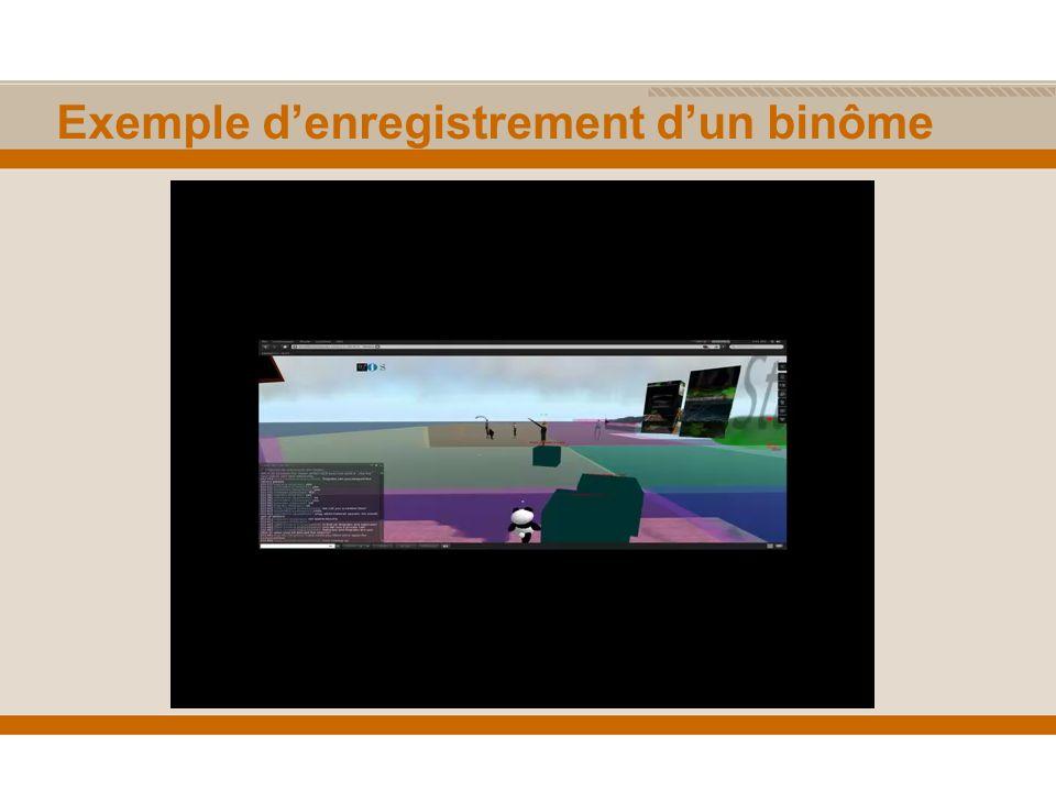 Exemple denregistrement dun binôme