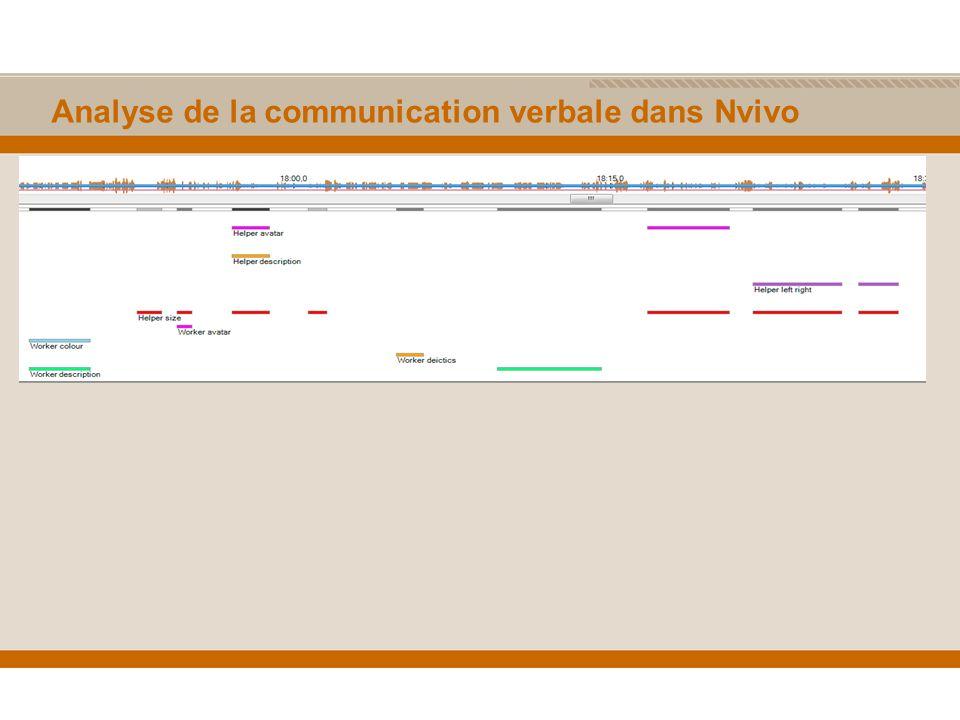 Analyse de la communication verbale dans Nvivo