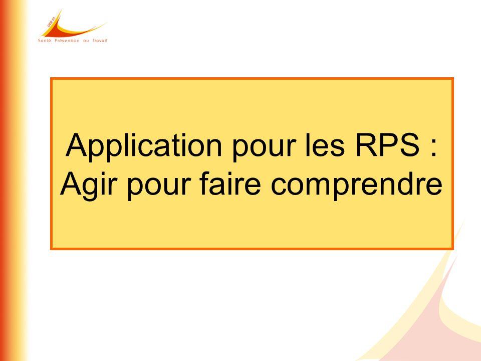 Application pour les RPS : Agir pour faire comprendre