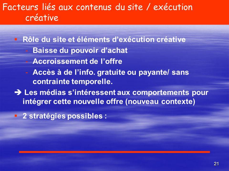 22 «Me too product » Publicité intrusive Irritation lecteur Titres Titres Publicité mieux acceptée Comportement du lecteur en ligne Recherche dinfo.