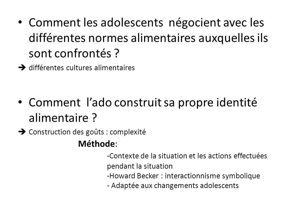 Méthode: -Contexte de la situation et les actions effectuées pendant la situation -Howard Becker : interactionnisme symbolique - Adaptée aux changemen