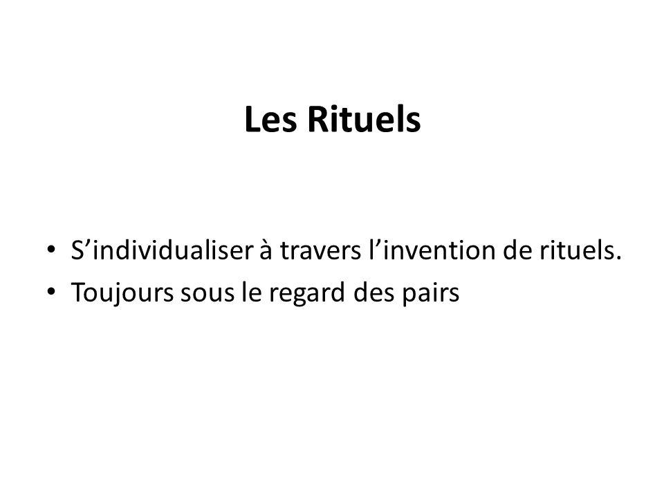 Les Rituels Sindividualiser à travers linvention de rituels. Toujours sous le regard des pairs