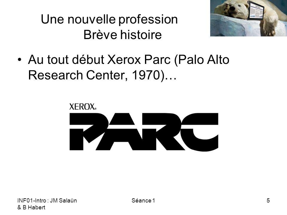 INF01-Intro : JM Salaün & B Habert Séance 116 Une nouvelle profession Ressources Les classiques Garrett, Jesse James.