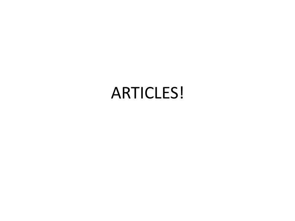 ARTICLES!