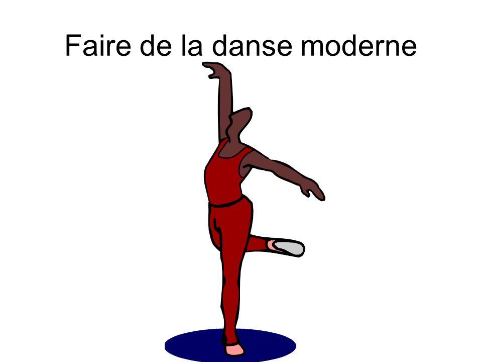 Faire de la danse moderne