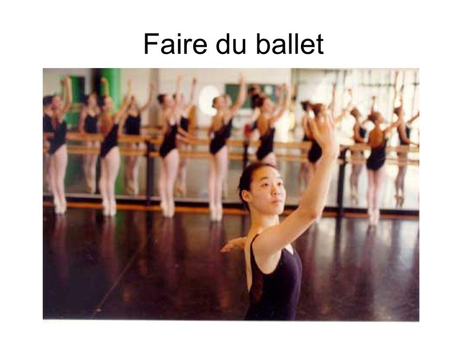Faire du ballet