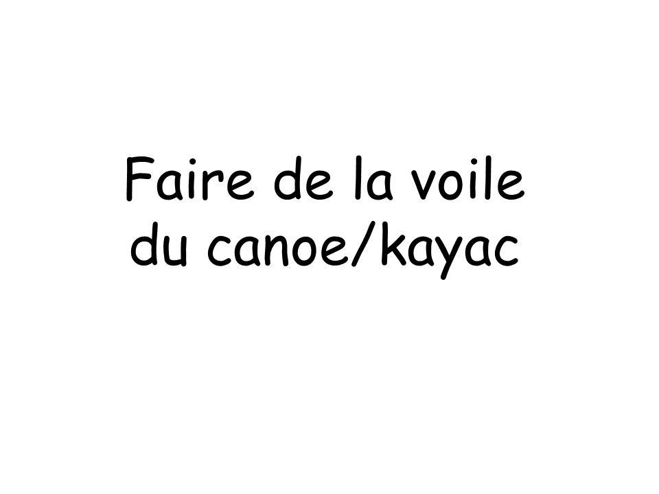 Faire de la voile du canoe/kayac