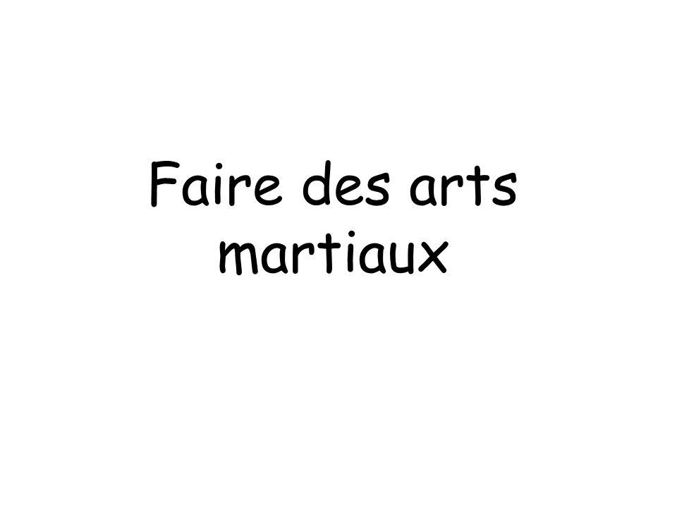Faire des arts martiaux