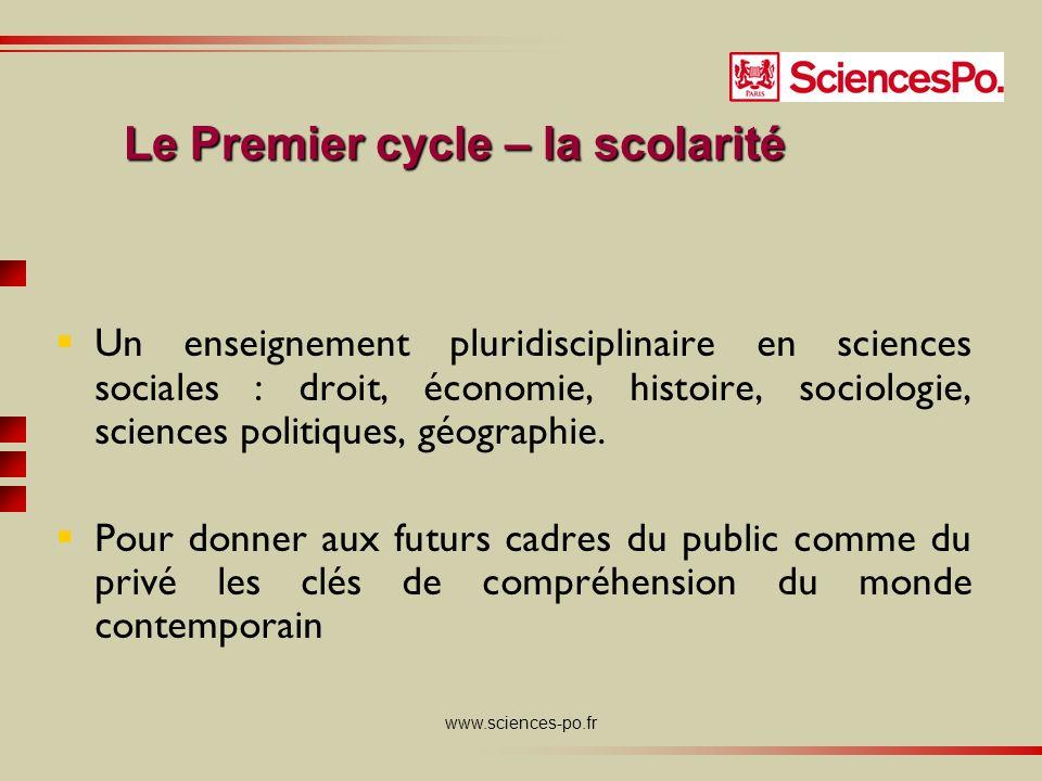 www.sciences-po.fr Un enseignement pluridisciplinaire en sciences sociales : droit, économie, histoire, sociologie, sciences politiques, géographie.