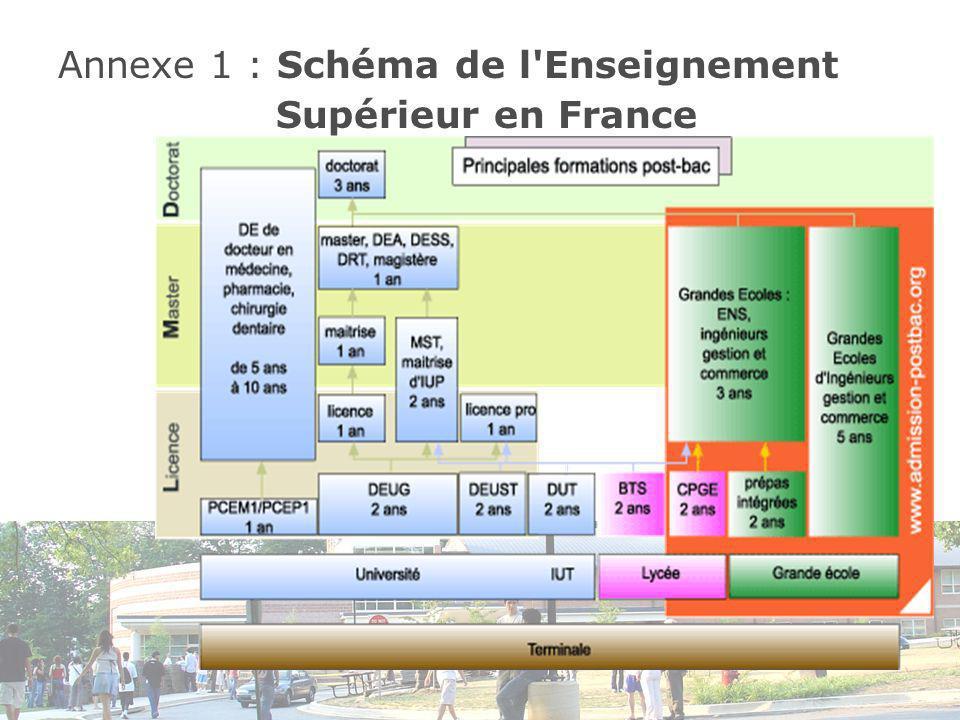 Annexe 1 : Schéma de l Enseignement Supérieur en France