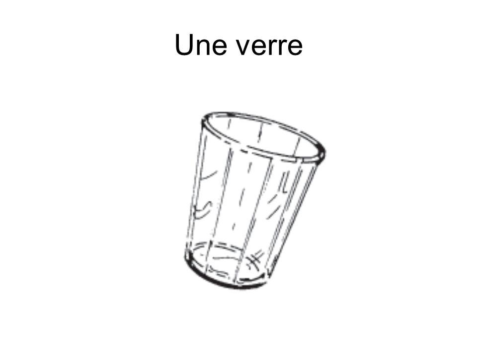 Une verre
