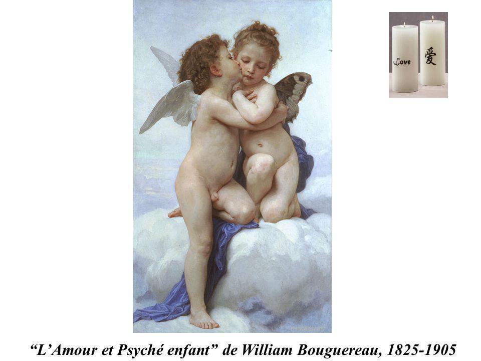 LAmour et Psyché enfant de William Bouguereau, 1825-1905