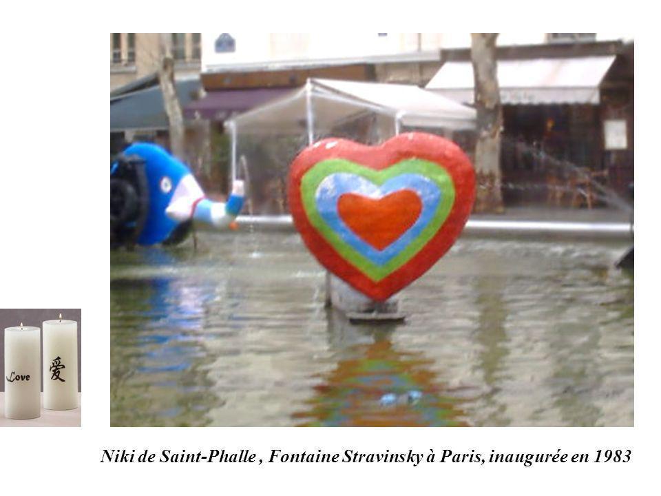 Niki de Saint-Phalle, Fontaine Stravinsky à Paris, inaugurée en 1983