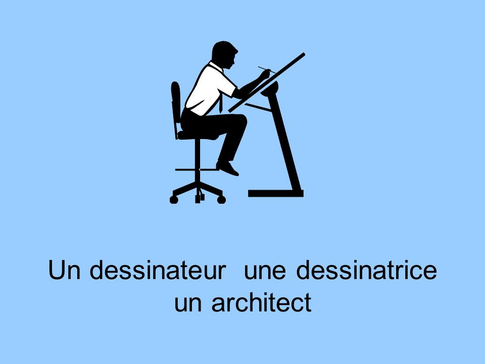 Un dessinateur une dessinatrice un architect