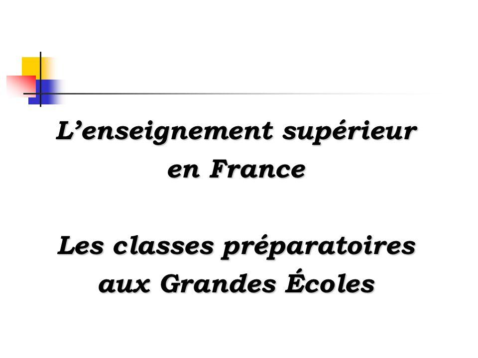 Lenseignement supérieur en France Les classes préparatoires aux Grandes Écoles