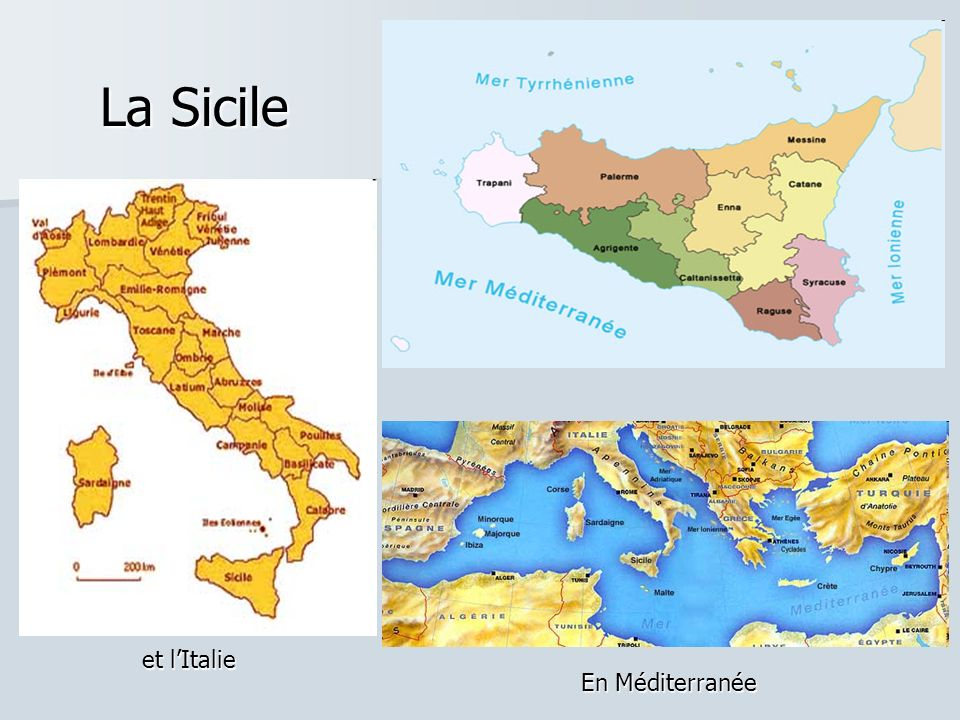 La Sicile La Sicile et lItalie En Méditerranée