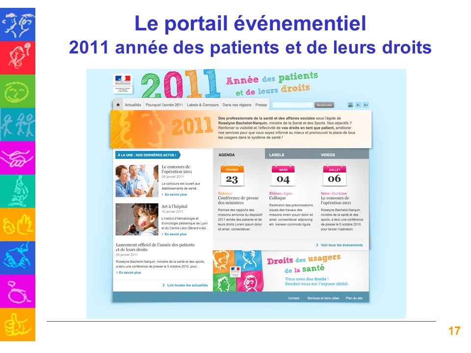Le portail événementiel 2011 année des patients et de leurs droits 17