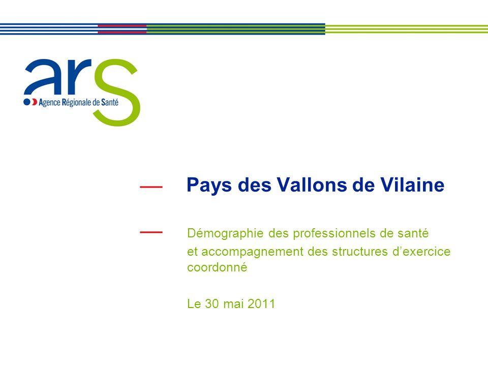 Pays des Vallons de Vilaine Démographie des professionnels de santé et accompagnement des structures dexercice coordonné Le 30 mai 2011