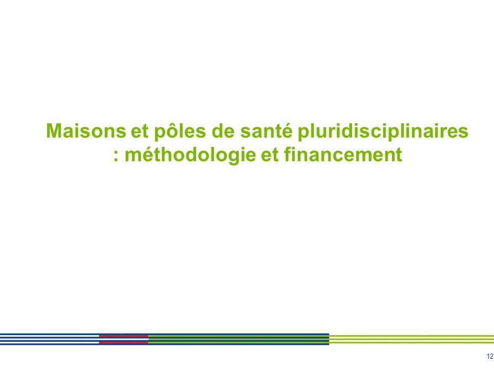 12 Maisons et pôles de santé pluridisciplinaires : méthodologie et financement