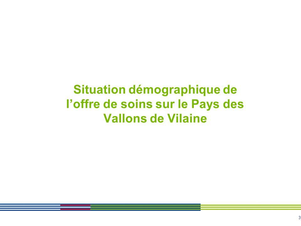 3 Situation démographique de loffre de soins sur le Pays des Vallons de Vilaine