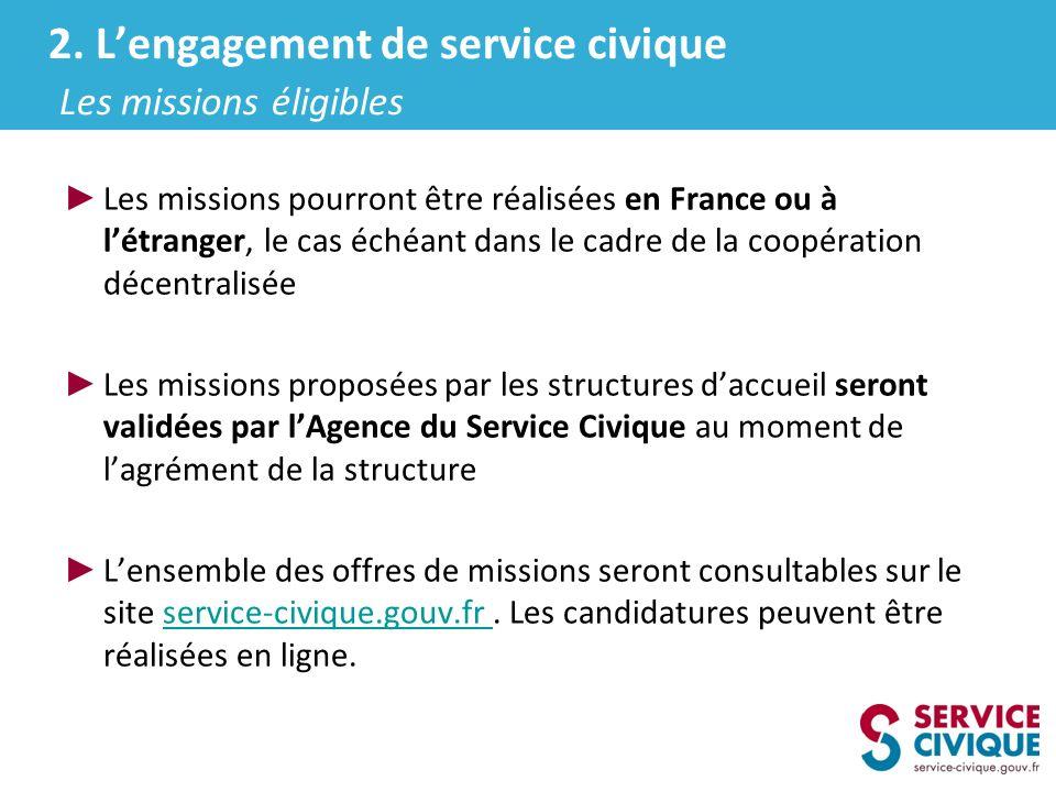 Les missions pourront être réalisées en France ou à létranger, le cas échéant dans le cadre de la coopération décentralisée Les missions proposées par