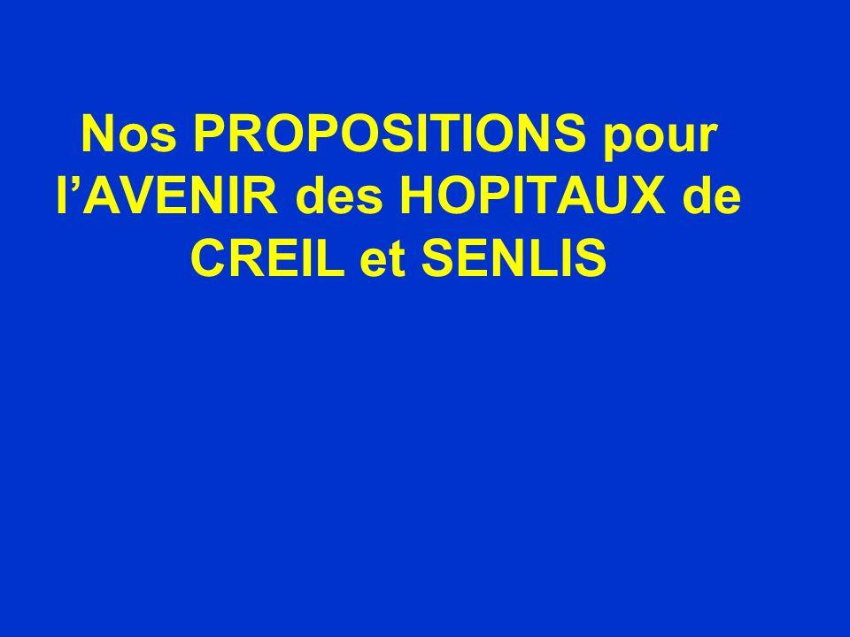 Nos PROPOSITIONS pour lAVENIR des HOPITAUX de CREIL et SENLIS