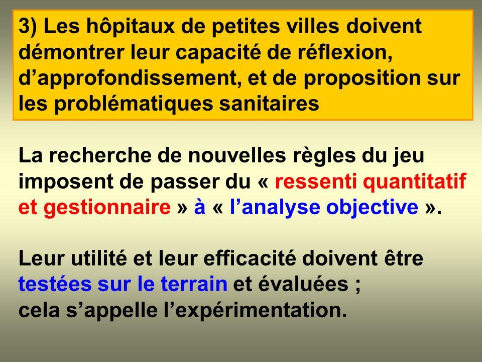 La recherche de nouvelles règles du jeu imposent de passer du « ressenti quantitatif et gestionnaire » à « lanalyse objective ». Leur utilité et leur