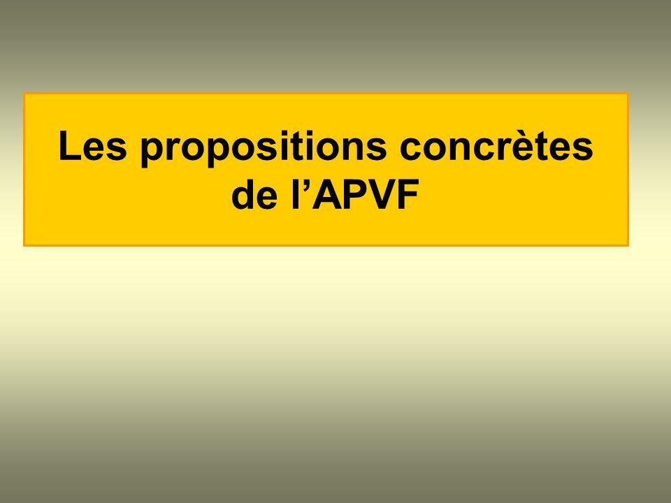 Les propositions concrètes de lAPVF