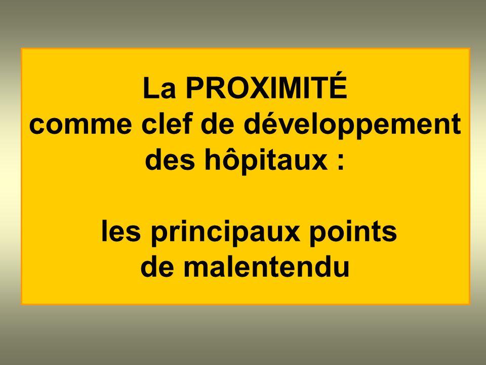 La PROXIMITÉ comme clef de développement des hôpitaux : les principaux points de malentendu