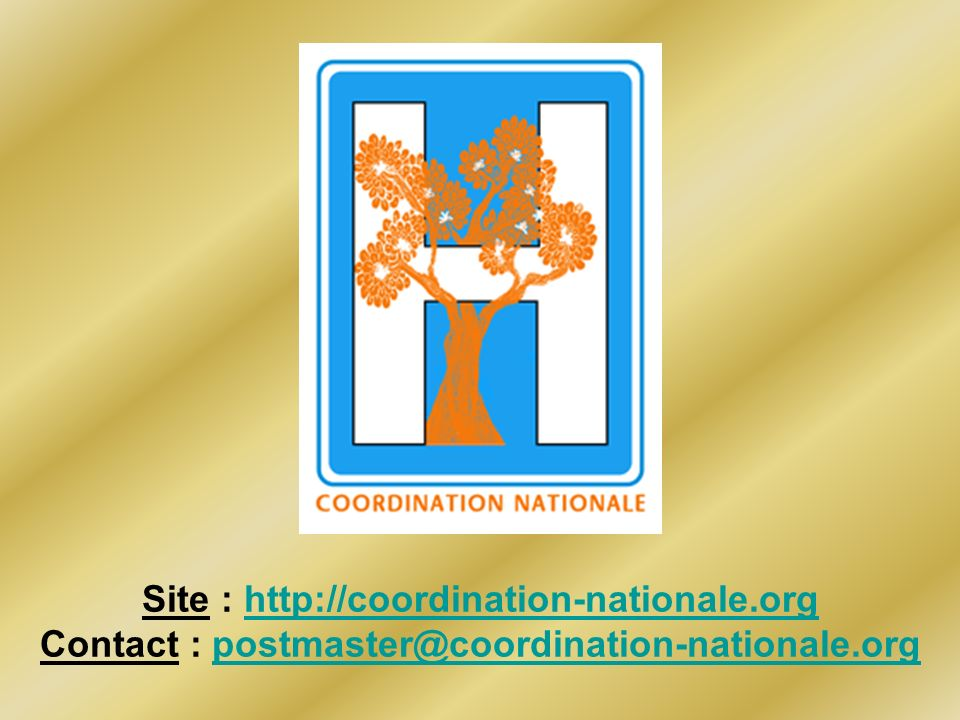 Site : http://coordination-nationale.org Contact : postmaster@coordination-nationale.orghttp://coordination-nationale.orgpostmaster@coordination-natio