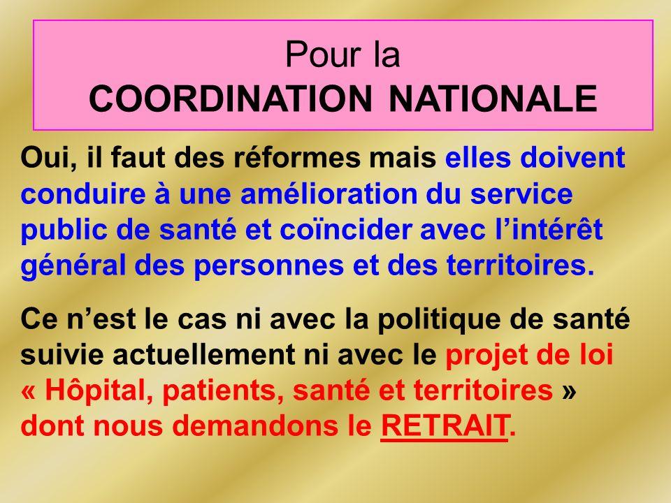 Oui, il faut des réformes mais elles doivent conduire à une amélioration du service public de santé et coïncider avec lintérêt général des personnes et des territoires.
