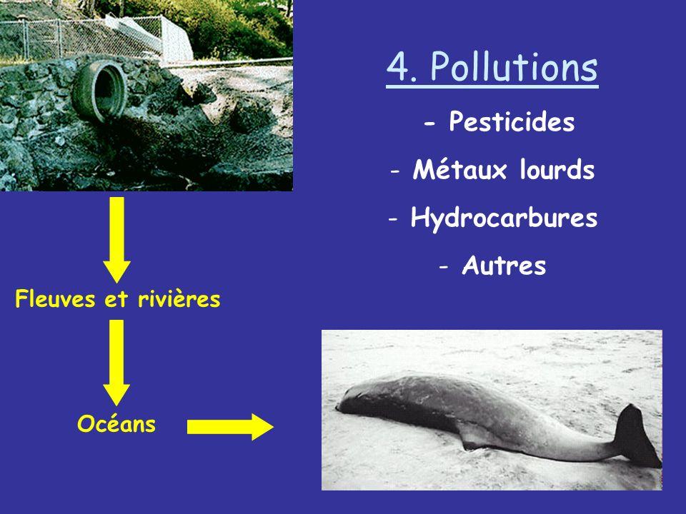 4. Pollutions - Pesticides - Métaux lourds - Hydrocarbures - Autres Fleuves et rivières Océans